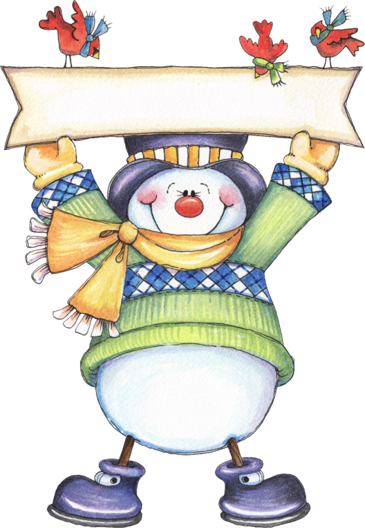Winter clipart celebration.  snowman xmas and