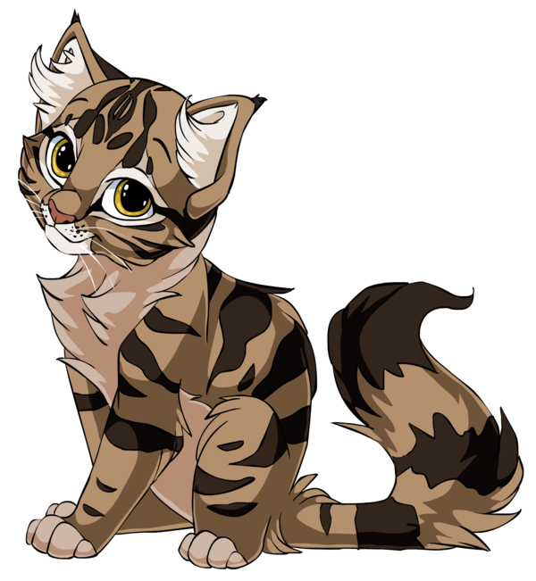 a sweet painting. Kitty clipart anime cat