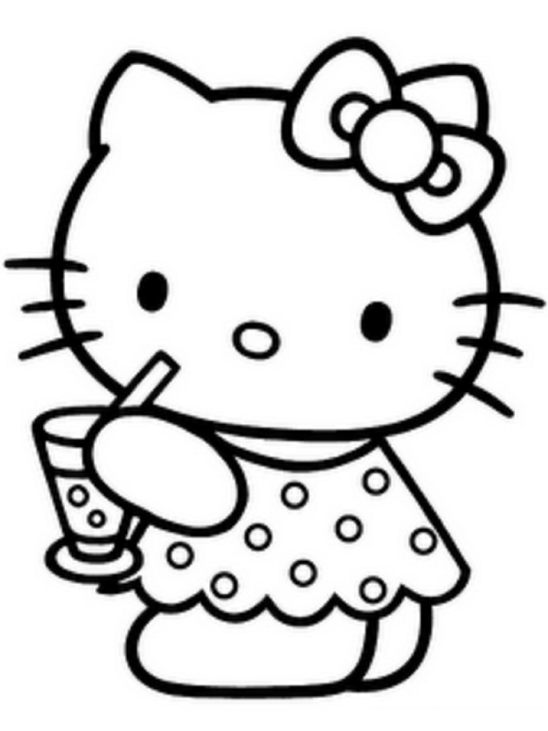 Free clip art of. Kitty clipart black and white
