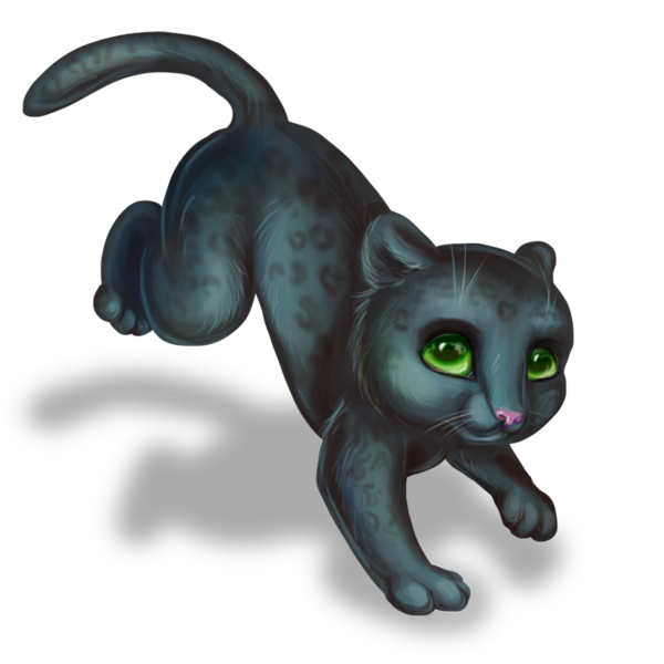 Kitty clipart black panther. Cute drawing at getdrawings