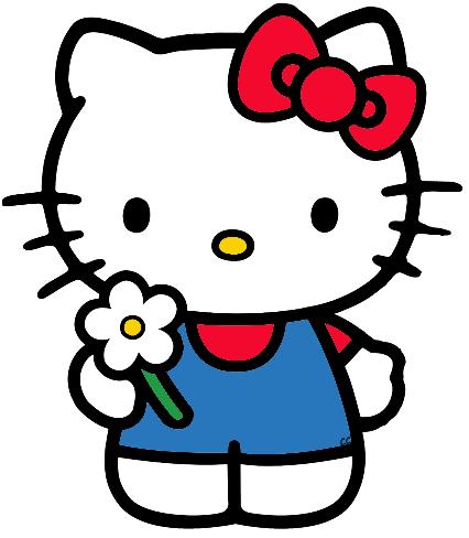 Kitty clipart cartoon. Hello clip art images