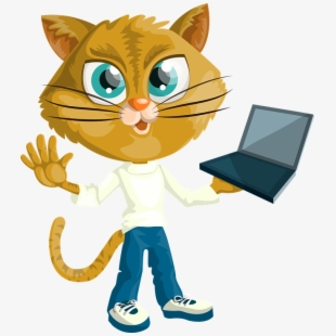 kitty clipart computer