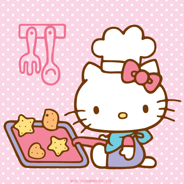 Hellokitty day my hello. Kitty clipart cooking