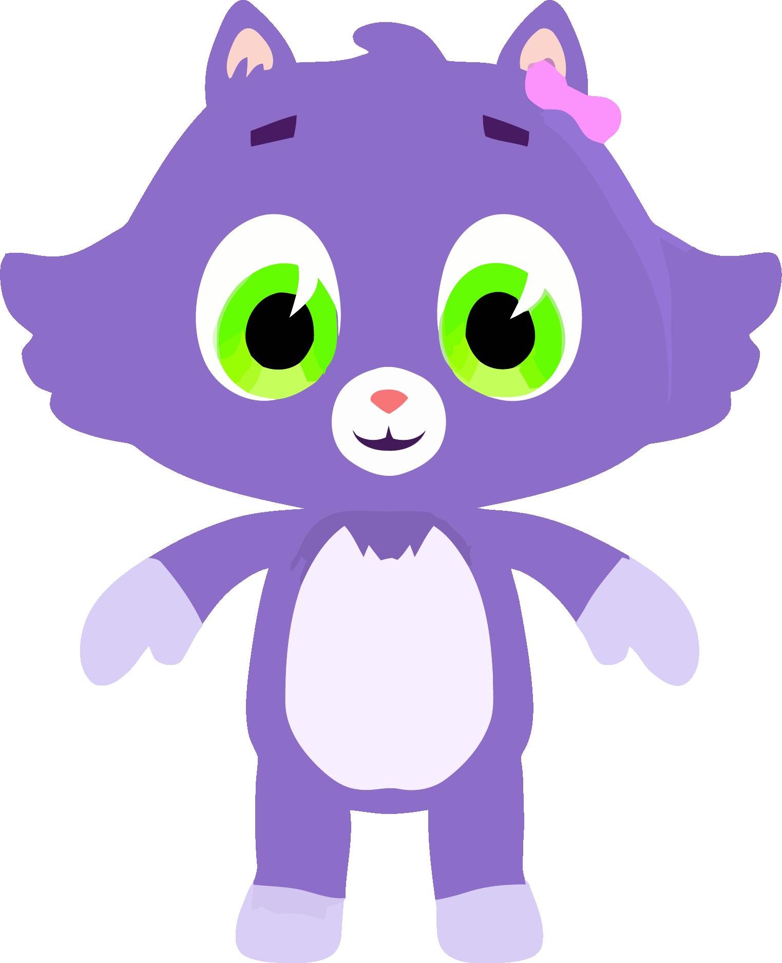 Medium cat png download. Purple clipart cute