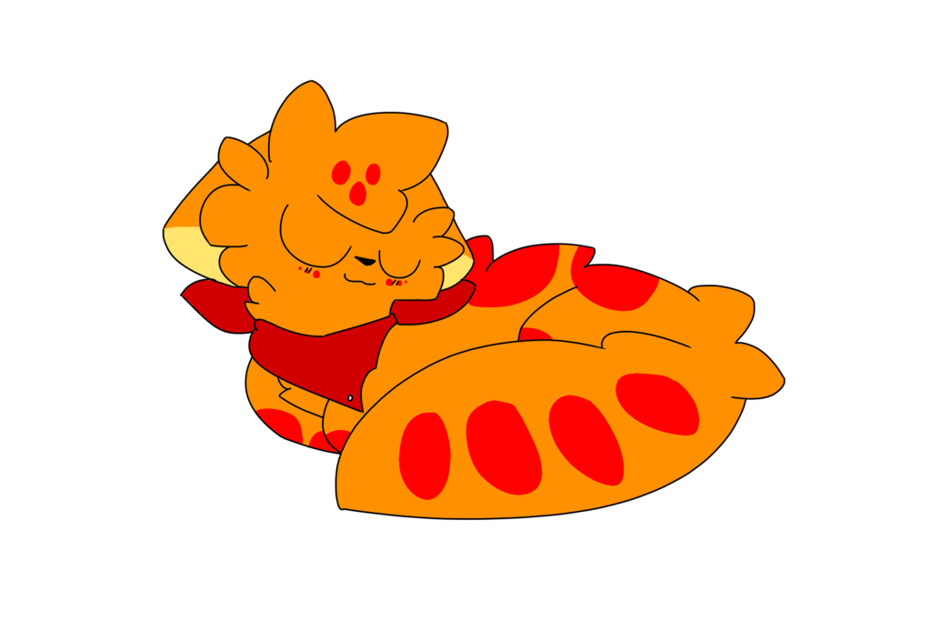 Sleepy by flametail on. Kitty clipart doodle