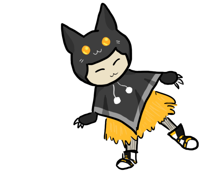 For flying snitch by. Kitty clipart doodle