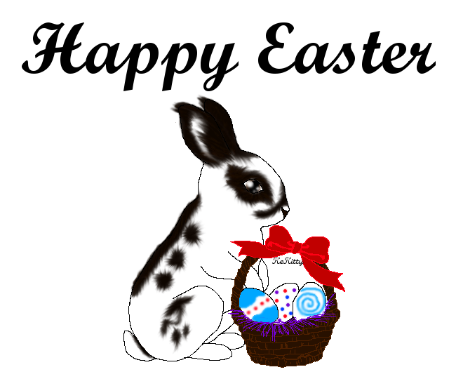Kitty clipart easter. Happy by kekitty on