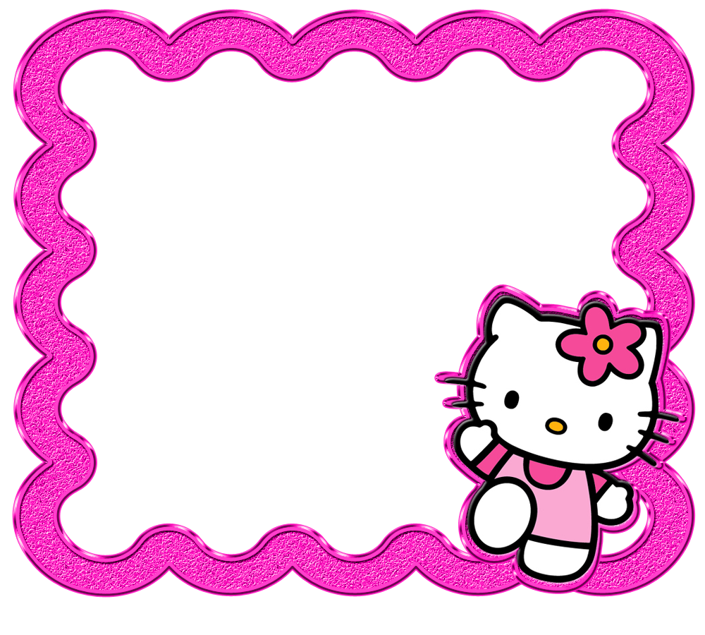 Hello delicados marcos de. Kitty clipart frame