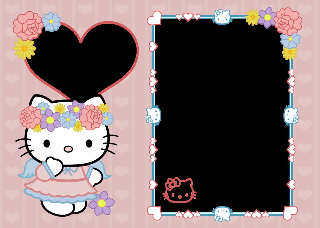 Kitty clipart frame.  x hello copy