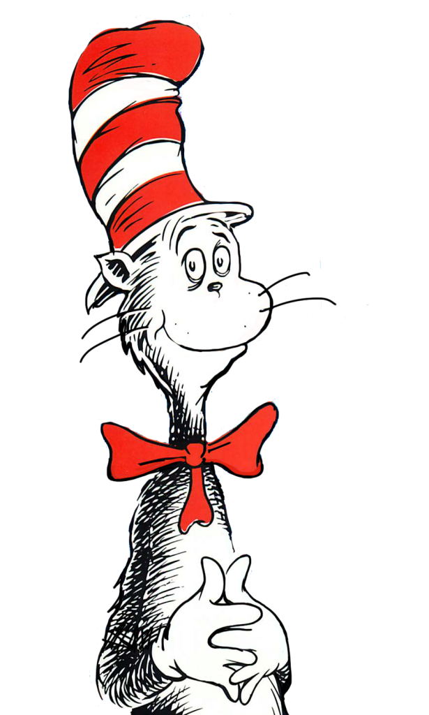Cat in the at. Kitty clipart hat