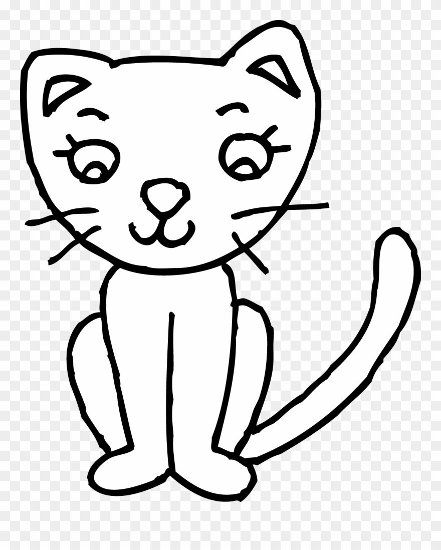 Black and white clip. Kitty clipart kitty cat