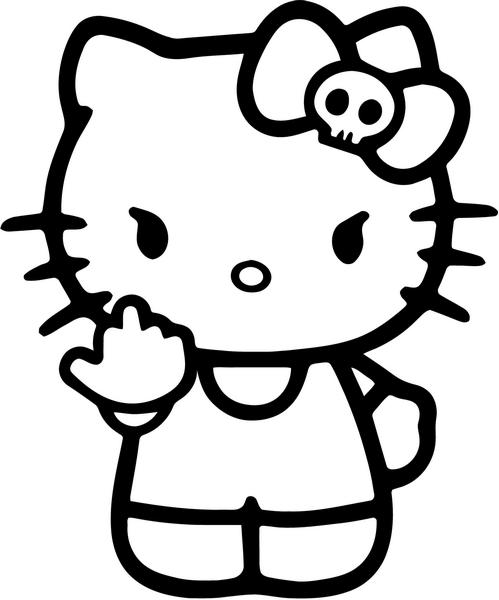 Cartoon flipping off free. Kitty clipart middle