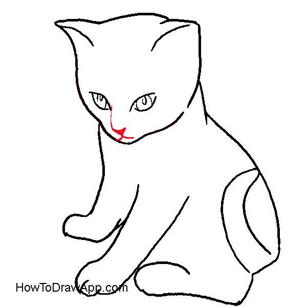Black cat realistic pencil. Kitty clipart mouth