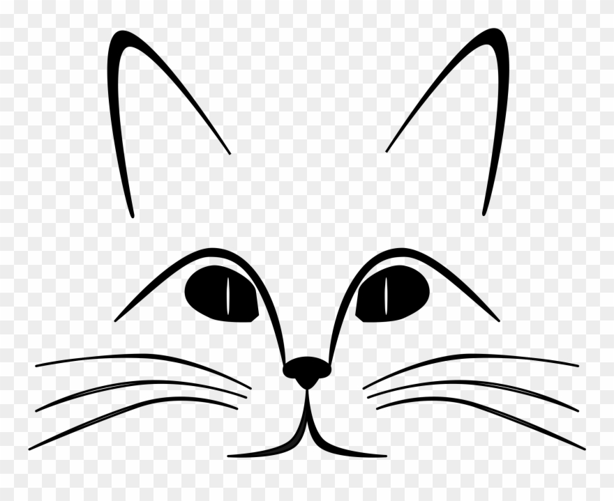 Kitty clipart mouth. Cat black and white