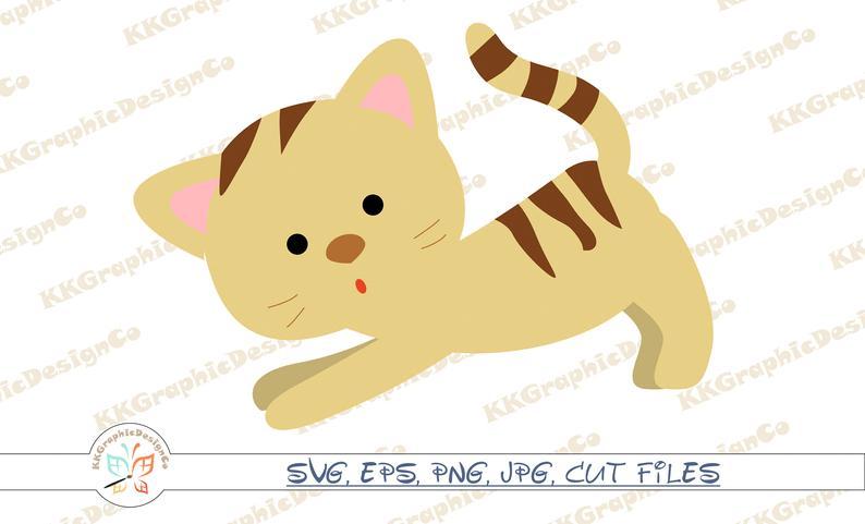 Cat animal clip art. Pet clipart kitten