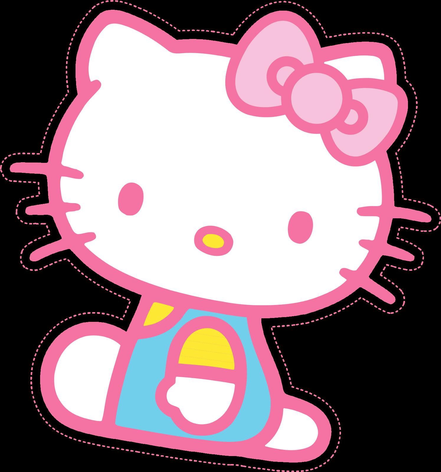 Kitty clipart printable. Hello lindo mini kit