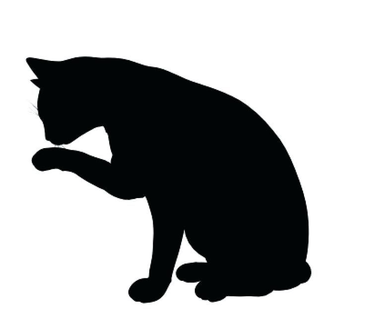 kitty clipart shadow