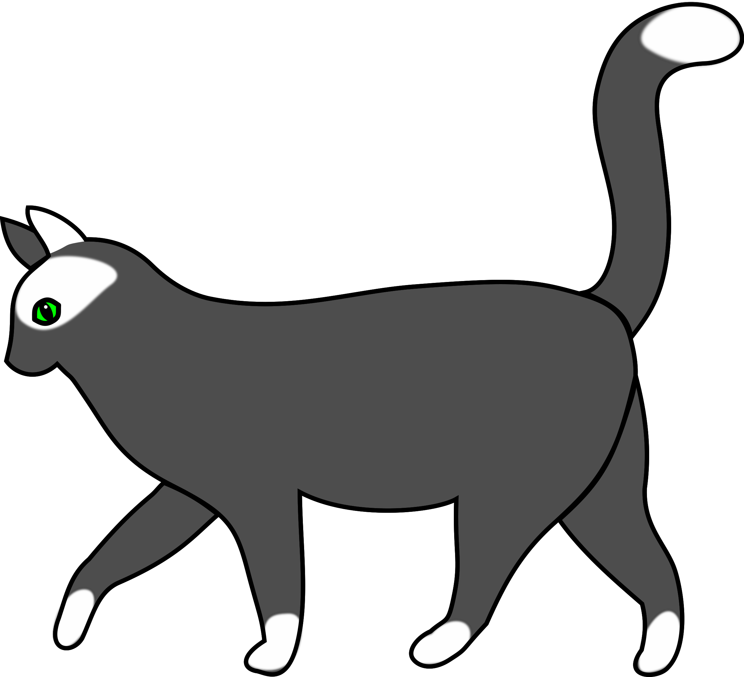 Kitty clipart walking.  collection of cat