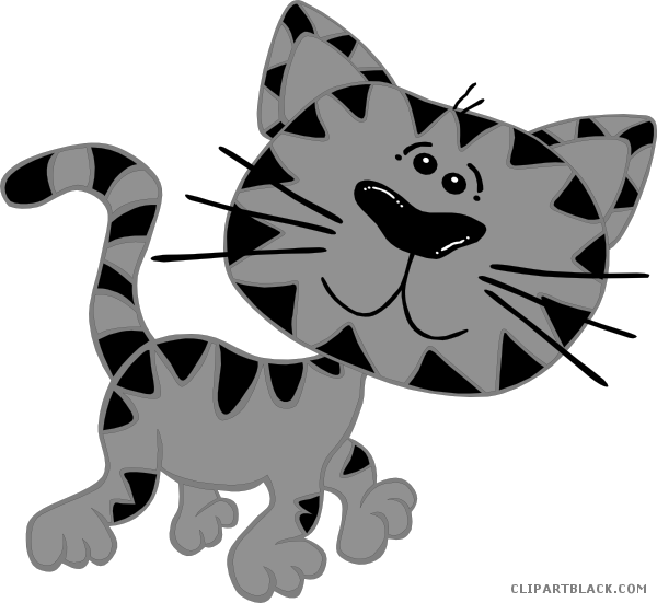 Kitty clipart walking. Cat page of clipartblack