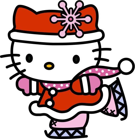 Kitty clipart winter. Hello christmas