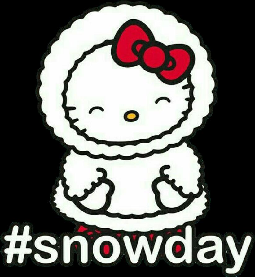 Kitty clipart winter. Hellokitty kawaii invierno snowday