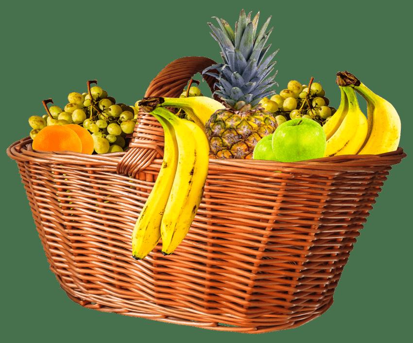 Kiwi clipart fruit plate. Basket png free images