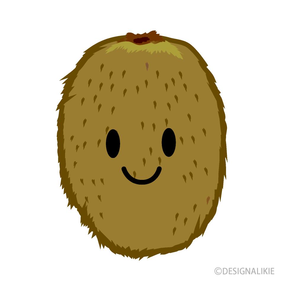 Cute free picture illustoon. Kiwi clipart fruites