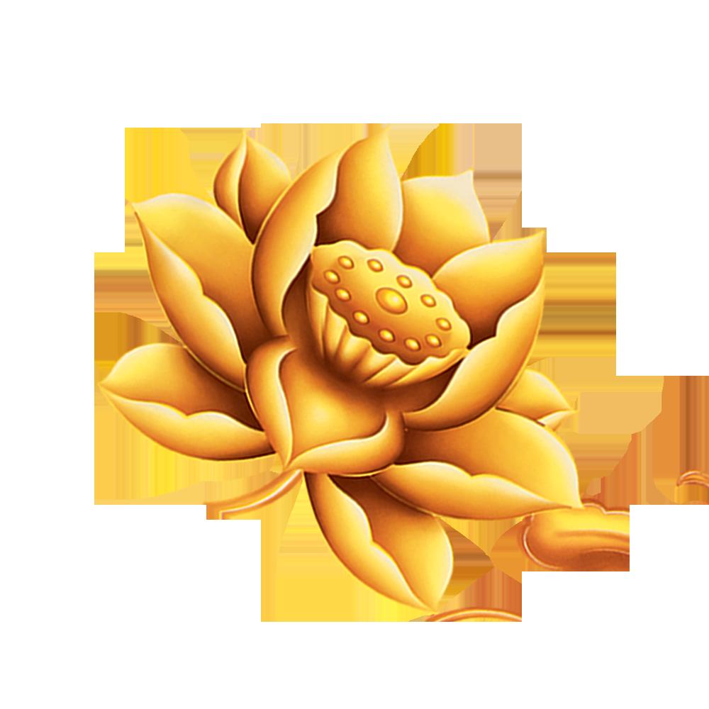 Lotus clipart simple. Gold clip art golden