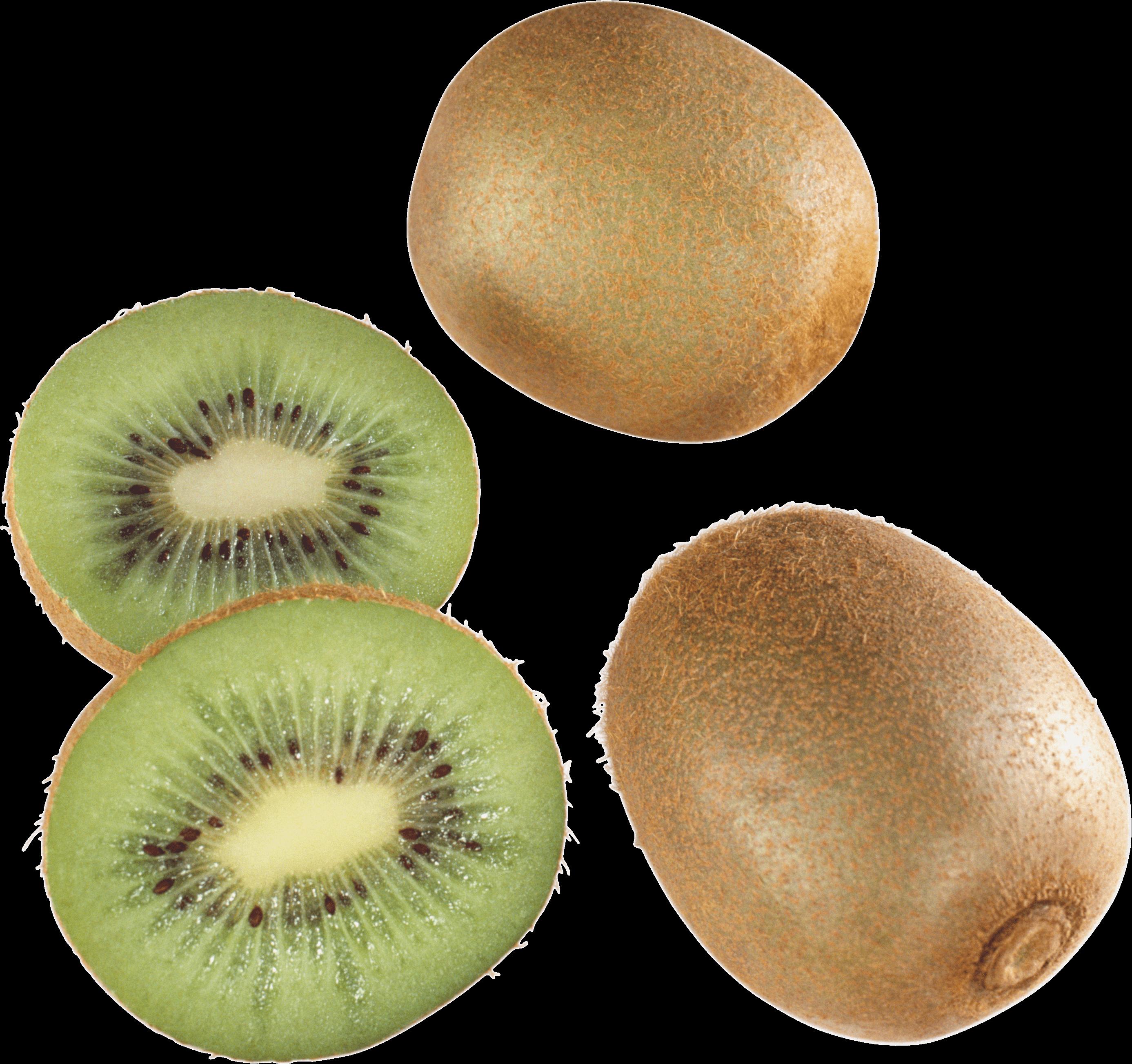 Kiwi clipart kind fruit. Three one open kiwis