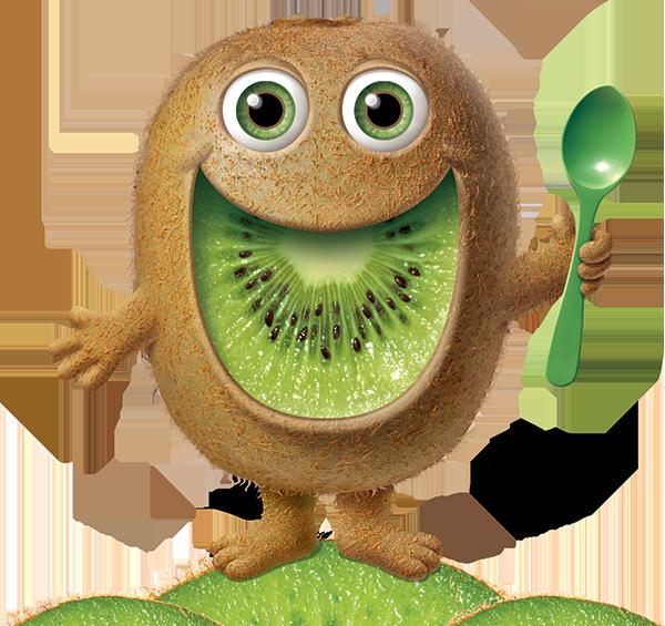 Mighties kiwi man. Yogurt clipart spoonful