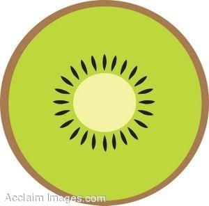 Kiwi clipart kiwi slice.