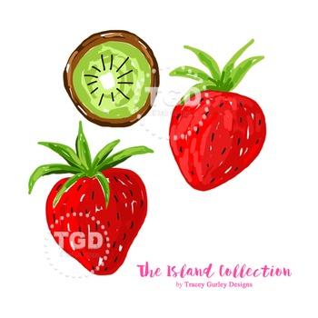 Kiwi clipart strawberry kiwi. Preppy clip art tracey