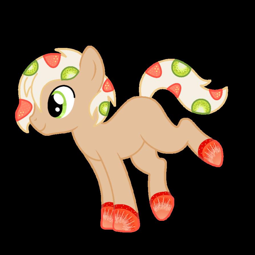Yogurt pony for happyhippoadopts. Kiwi clipart strawberry kiwi
