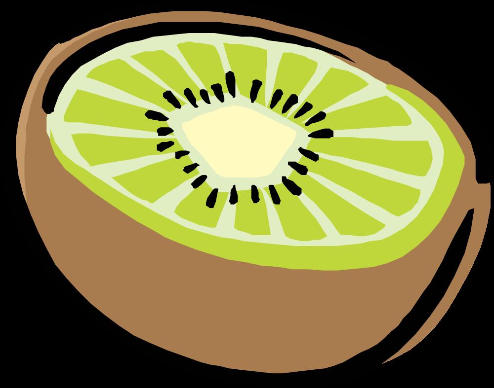 Kiwi clipart strawberry kiwi. Onlinelabels clip art half