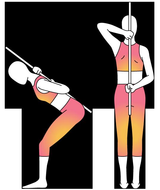 Physera hip hinge movement. Knee clipart bend knee