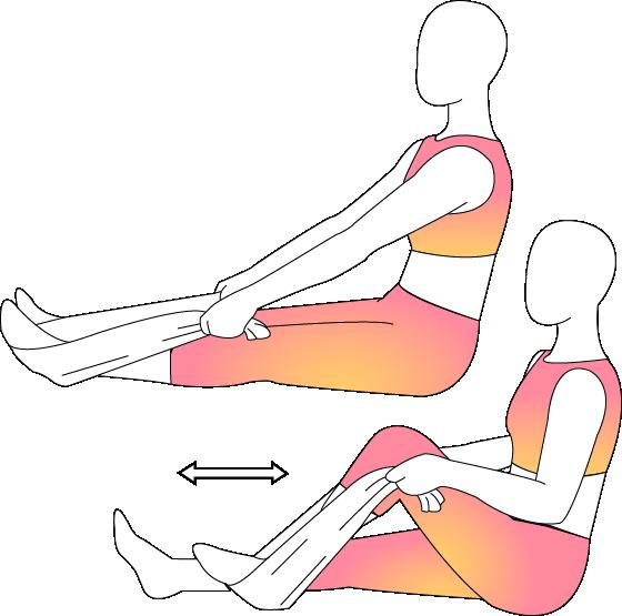 Knee clipart bend knee. Physera movement using towel
