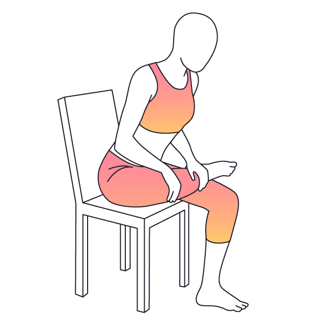 Sit clipart leg crossed. Physera seated figure four