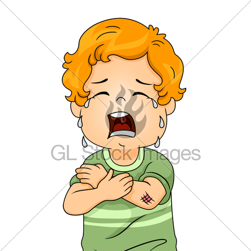 Knee clipart wounded boy. Gl stock images