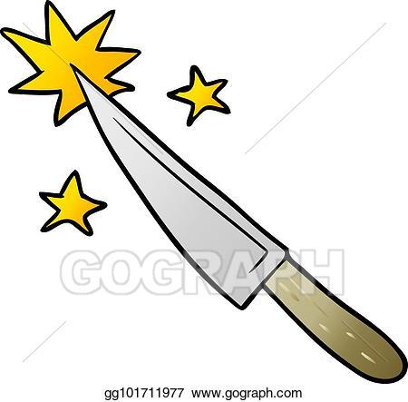 Eps illustration sharp kitchen. Knife clipart cartoon