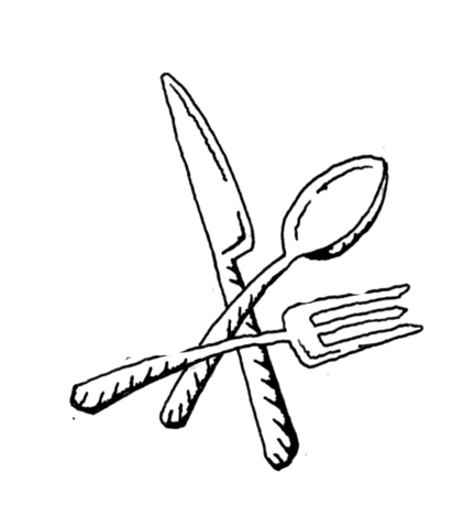 Knife clipart coloring page. Fork spoon and free