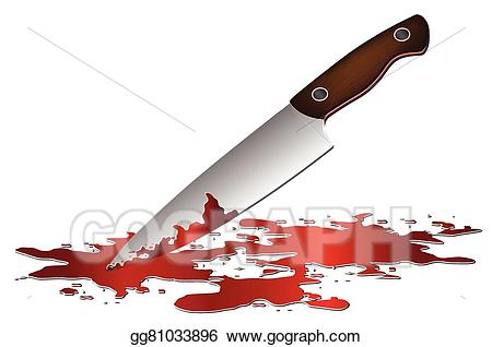 Vector stock realistic bloody. Knife clipart illustration