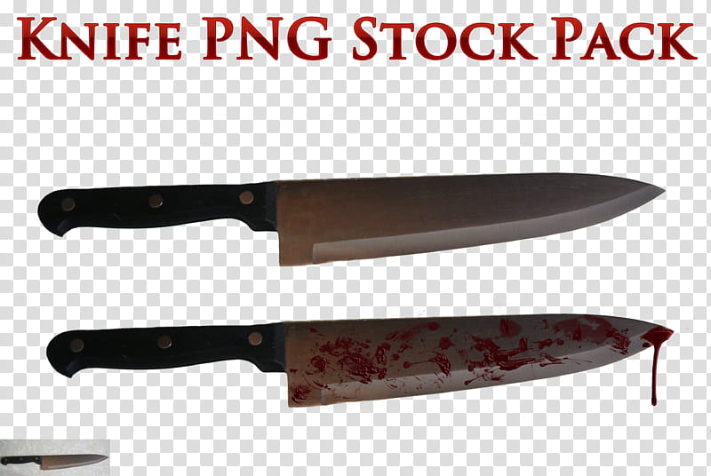 Knife clipart illustration. Two bloody and non