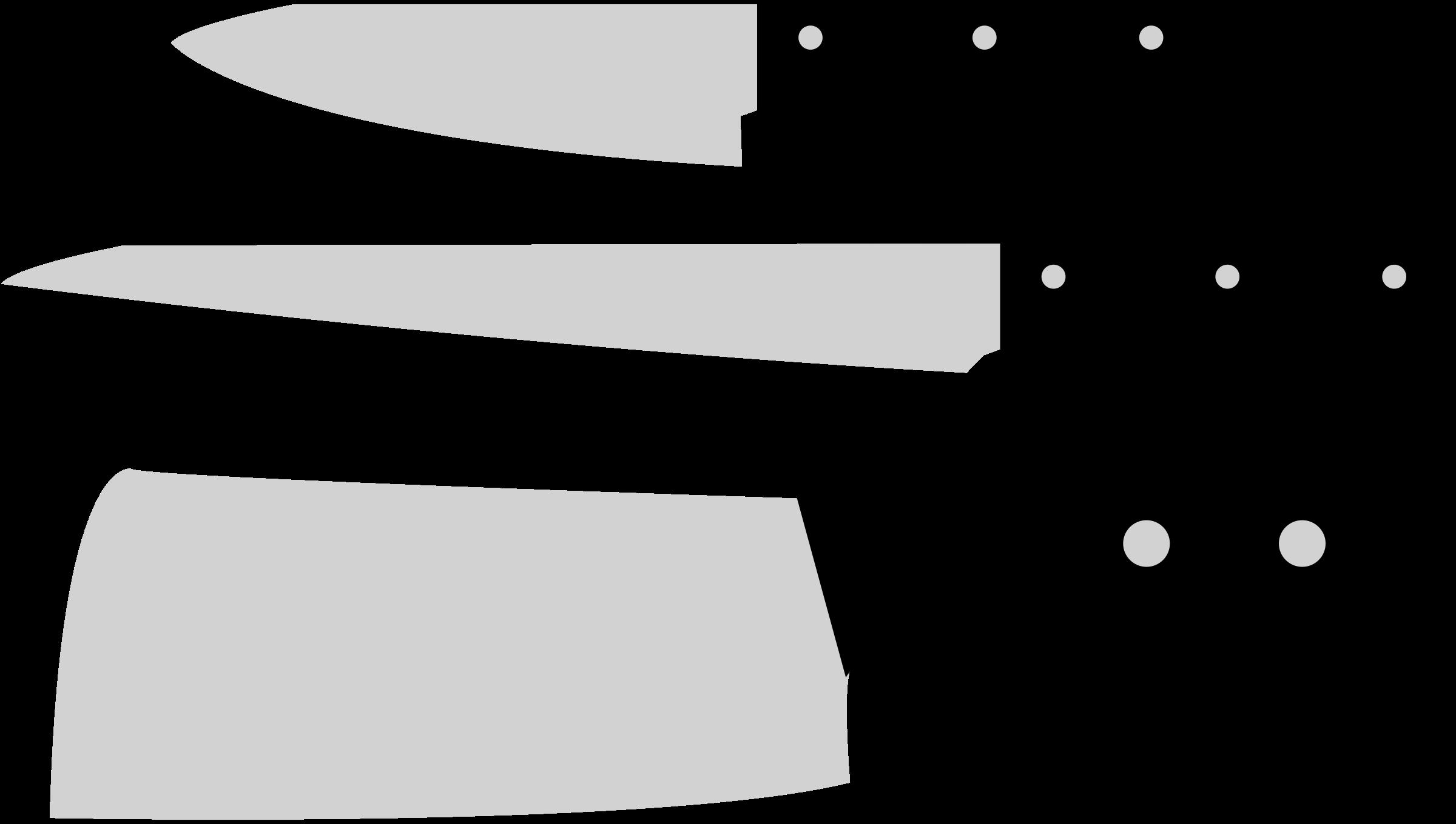 White clipart knife. Kitchen knives big image