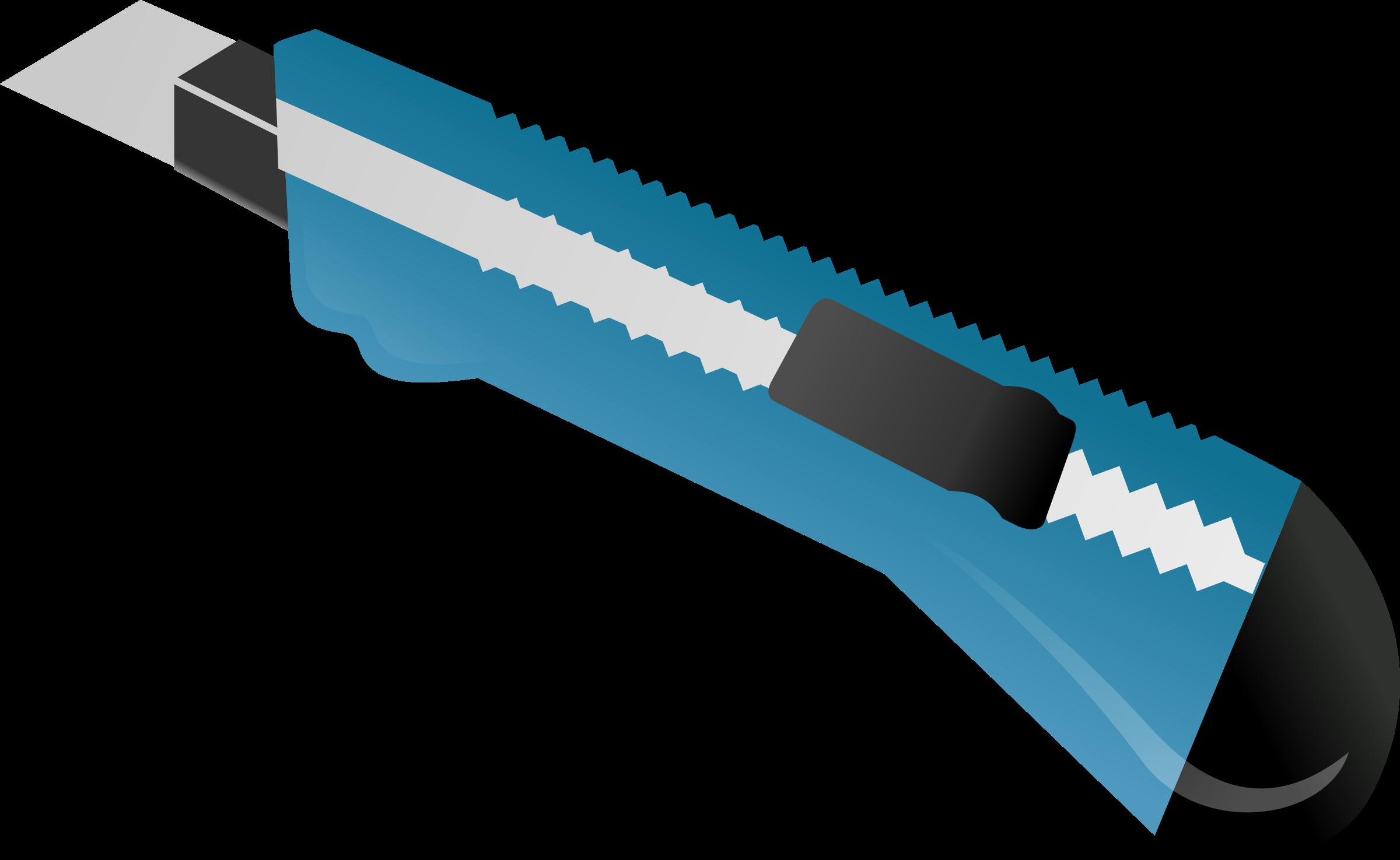 Box cutter utility blue. Knife clipart sharp object