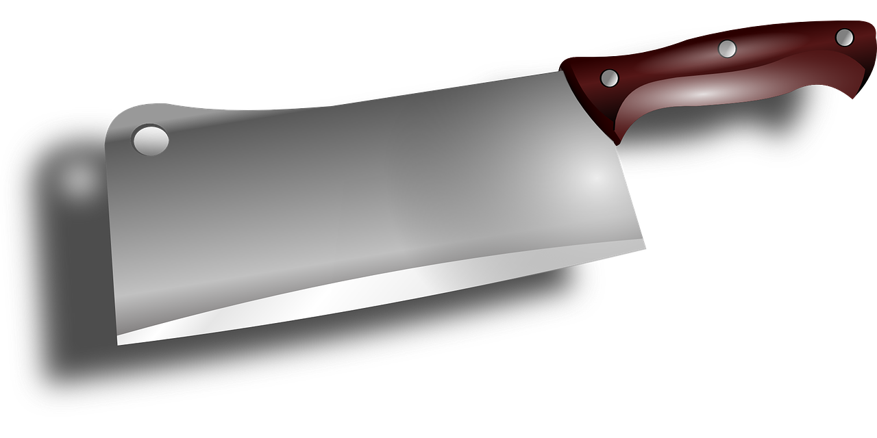 Butcher knife cleaver clip. Tool clipart sharp object