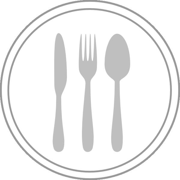 Knife clipart silverware plate. Recipe icon clip art