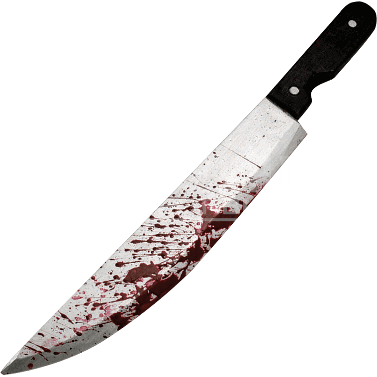 Bloody carving prop rc. Knife with blood png
