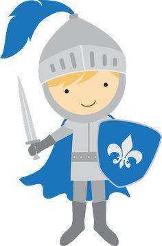 Knights clipart. Boys on knight castles
