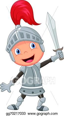 Vector art cartoon knight. Knights clipart animated