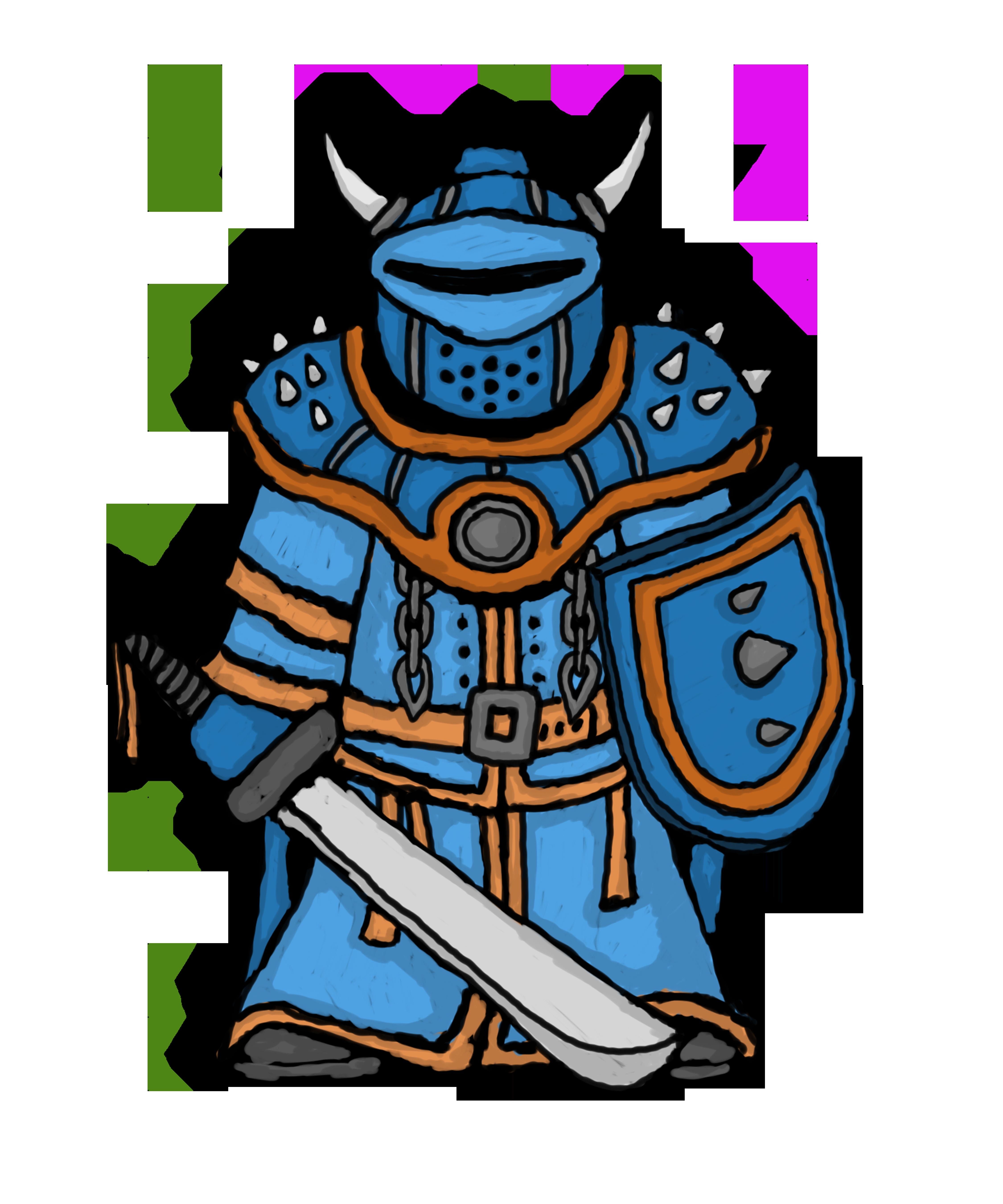 Some random d cartoony. Knight clipart blue knight